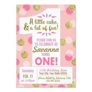 Rosa e convite do aniversário dos confetes do ouro