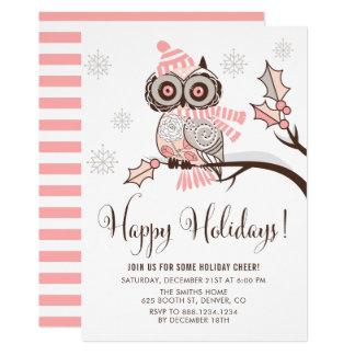 Rosa e convite floral cinzento da festa natalícia