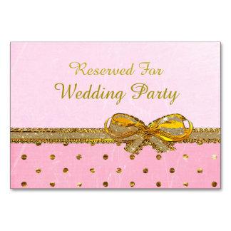 Rosa e de partido ou de casamento do ouro cartões