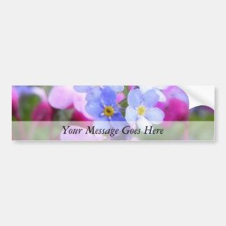 Rosa e flores azuis do primavera adesivo para carro