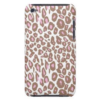 Rosa e impressão do leopardo de Brown Capa Para iPod Touch