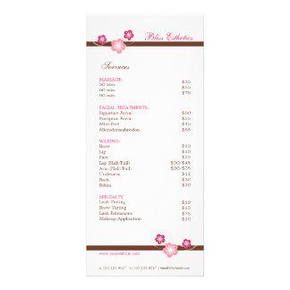 Rosa e modelo do menu dos termas de Brown Sakura Panfleto Informativo Personalizado