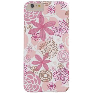 Rosa e teste padrão floral de Brown Capas Para iPhone 4 Case-Mate