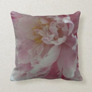 Rosa e travesseiro macio almofada