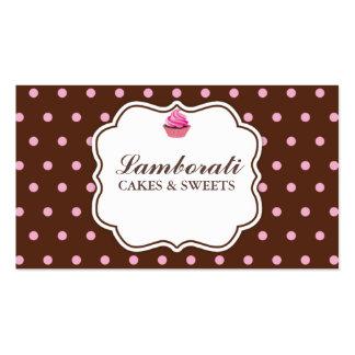 Rosa elegante da padaria do cupcake no teste cartão de visita