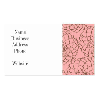Rosa elegante e desenho de esboço da flor de Brown Cartão De Visita