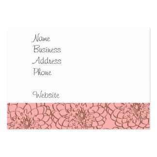 Rosa elegante e desenho de esboço da flor de Brown Cartão De Visita Grande
