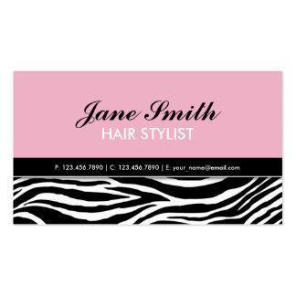 Rosa elegante moderno dos termas do cabeleireiro cartão de visita