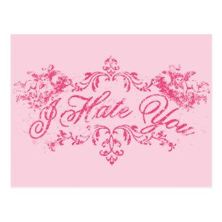 Rosa extravagante eu deio-o cartão postal