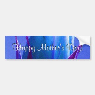Rosa feliz do azul do dia das mães adesivo para carro