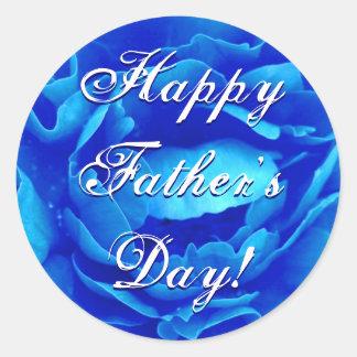 Rosa feliz do azul do dia dos pais adesivo
