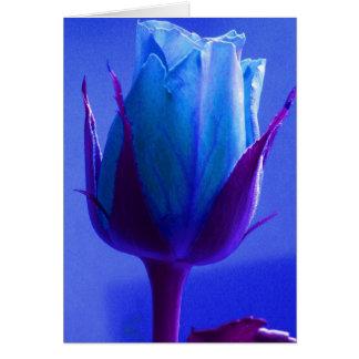 Rosa feliz do azul do dia dos pais II Cartão Comemorativo