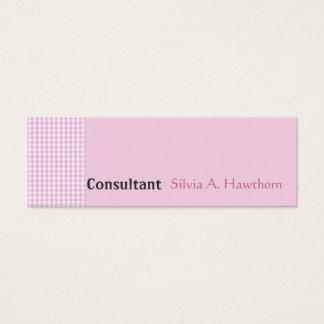 Rosa feminino do teste padrão minimalista do cartão de visitas mini