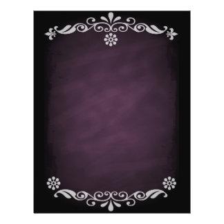 Rosa floral do esboço do quadro-negro panfletos coloridos
