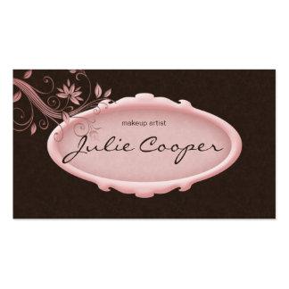 Rosa floral dos termas do cartão de visita do salã