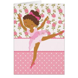 Rosa floral feminino da bailarina lunática persona cartões