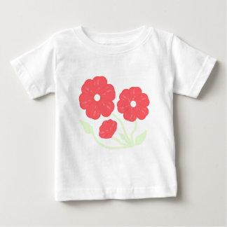 Rosa floral retro camisetas