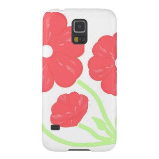 Rosa floral retro capinhas galaxy s5
