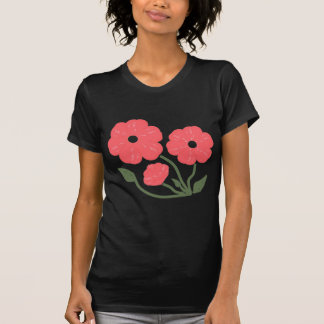 Rosa floral retro t-shirts