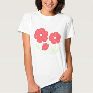 Rosa floral retro tshirts