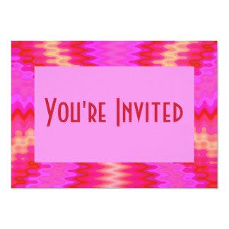 rosa groovy convite 12.7 x 17.78cm