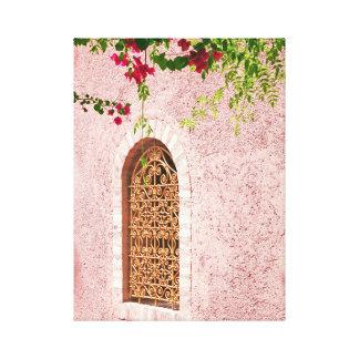 Rosa marroquino da janela impressão em canvas