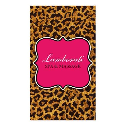 Rosa moderno elegante do desenhador de moda do imp cartão de visita