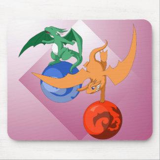 Rosa Mousepad do circo do dragão