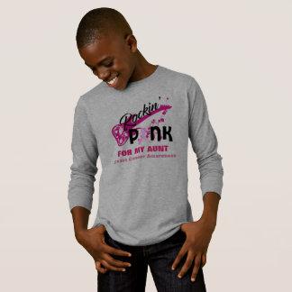 Rosa para a camisa da consciência da tia cancro da