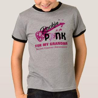 Rosa para a camisa da consciência do cancro da