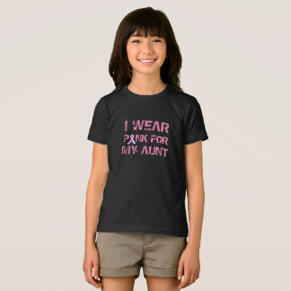 Rosa para minha camisa da consciência da tia