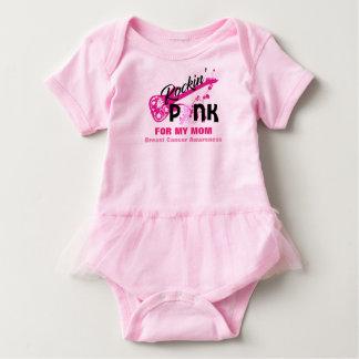 Rosa para o tutu do bebê da consciência do cancro body para bebê