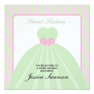 Rosa Pastel & doce formal verde dezesseis do Convites
