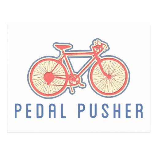 Rosa Pedaling da bicicleta Cartoes Postais