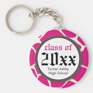 Rosa personalizado impressão do chaveiro da