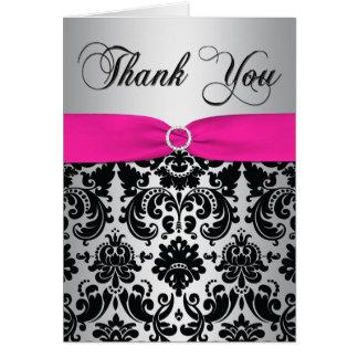 Rosa, prata, e cartões de agradecimentos pretos do