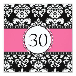 Rosa preto dos convites do aniversário de 30 anos