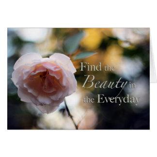 Rosa procura a beleza no cartão diário