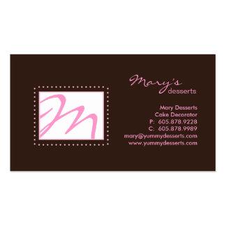 Rosa profissional Brown do cartão de visita do mon