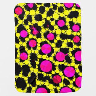 Rosa quente da chita BLING/cobertura fluorescente  Cobertores De Bebe