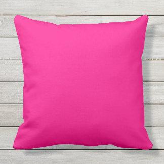 rosa quente da cor sólida almofada para ambientes externos