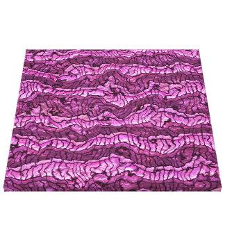 rosa quente da pele estrangeira impressão em tela