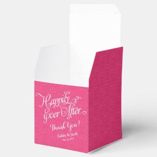 Rosa quente feliz nunca após o casamento caixinhas de lembrancinhas para casamentos