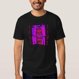 Rosa quente & roxo Luau Camisetas