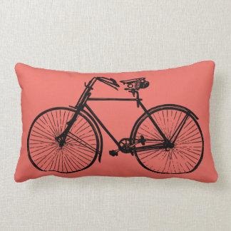 rosa salmon do travesseiro decorativo preto da almofada lombar