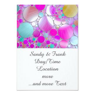 rosa sparkling das bolhas convite 12.7 x 17.78cm