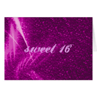 rosa sparkling das luzes cartão comemorativo