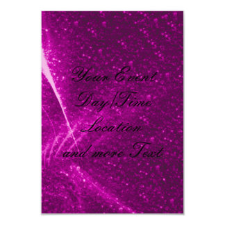 rosa sparkling das luzes convite 8.89 x 12.7cm