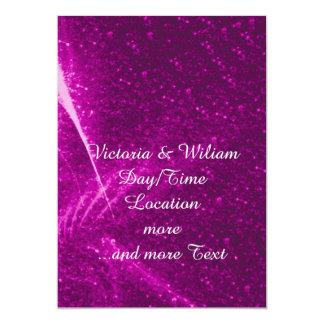 rosa sparkling das luzes convite 12.7 x 17.78cm