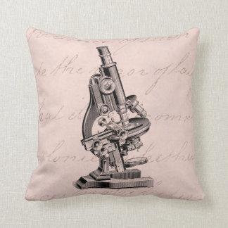 Rosa Steampunk da ilustração do microscópio do Almofada